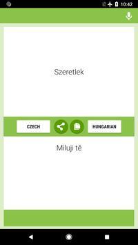 Czech-Hungarian Translator screenshot 4