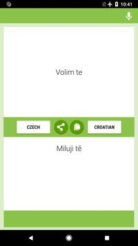 Czech-Croatian Translator screenshot 1