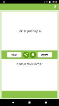 Czech-Latvian Translator poster