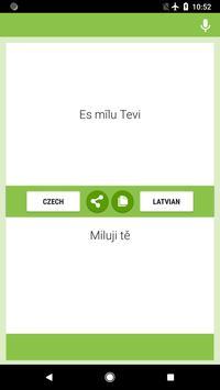 Czech-Latvian Translator screenshot 1