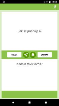 Czech-Latvian Translator screenshot 3