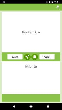 Czech-Polish Translator screenshot 1