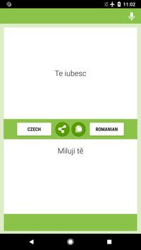 Czech-Romanian Translator screenshot 1