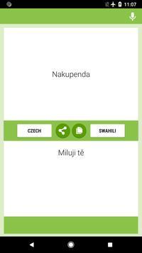 Czech-Swahili Translator screenshot 1