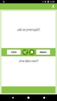 Czech-Swahili Translator screenshot 3