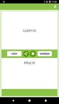 Czech-Slovenian Translator screenshot 1