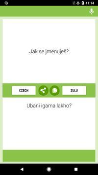 Czech-Zulu Translator screenshot 1