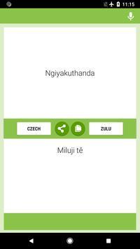 Czech-Zulu Translator screenshot 2