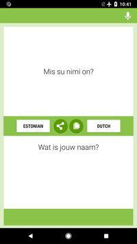 Estonian-Dutch Translator poster