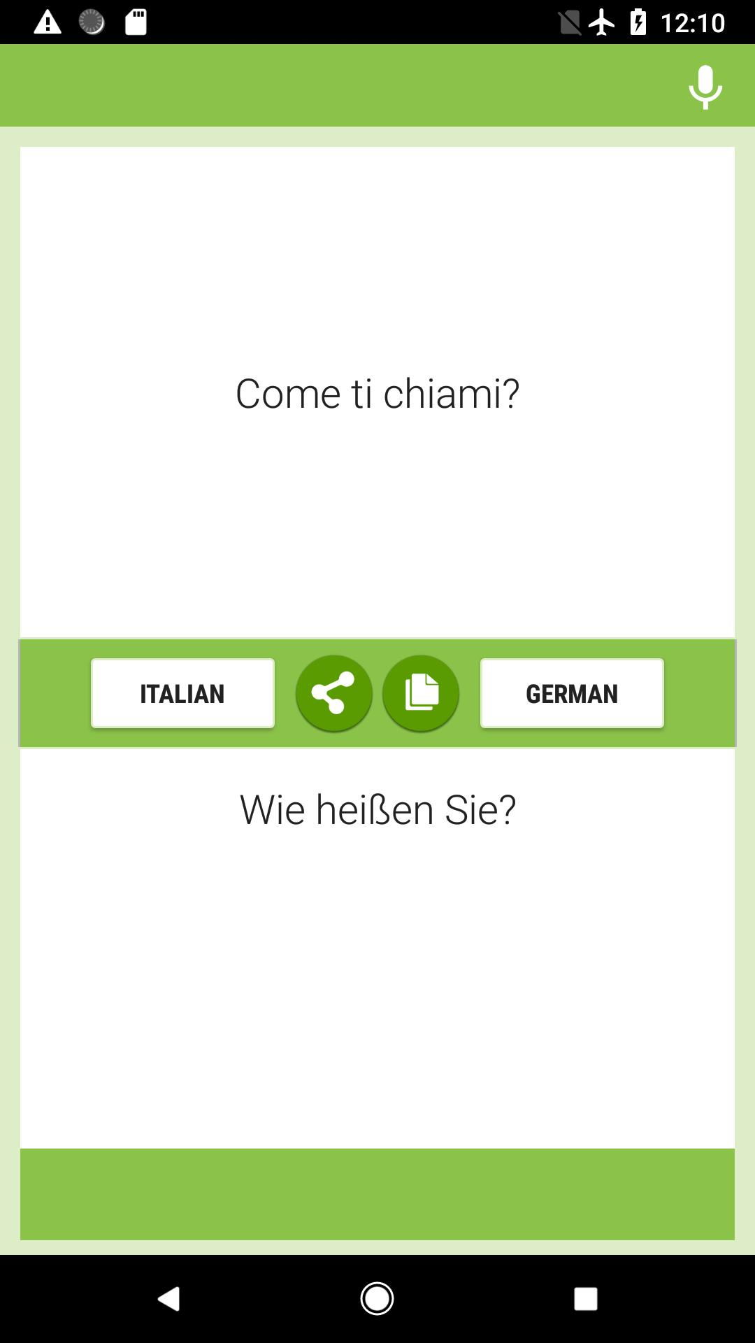 Translator Italian: Italian-German Translator For Android