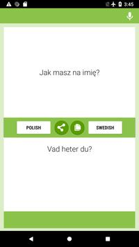 Polish-Swedish Translator screenshot 3