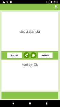 Polish-Swedish Translator screenshot 1