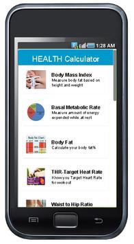 Health Calculator poster