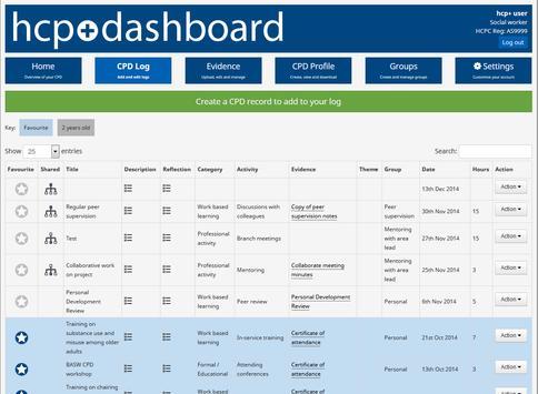 HCPC CPD solution apk screenshot