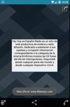 HIP HOP EN ESPAÑOL RADIO 2 captura de pantalla de la apk