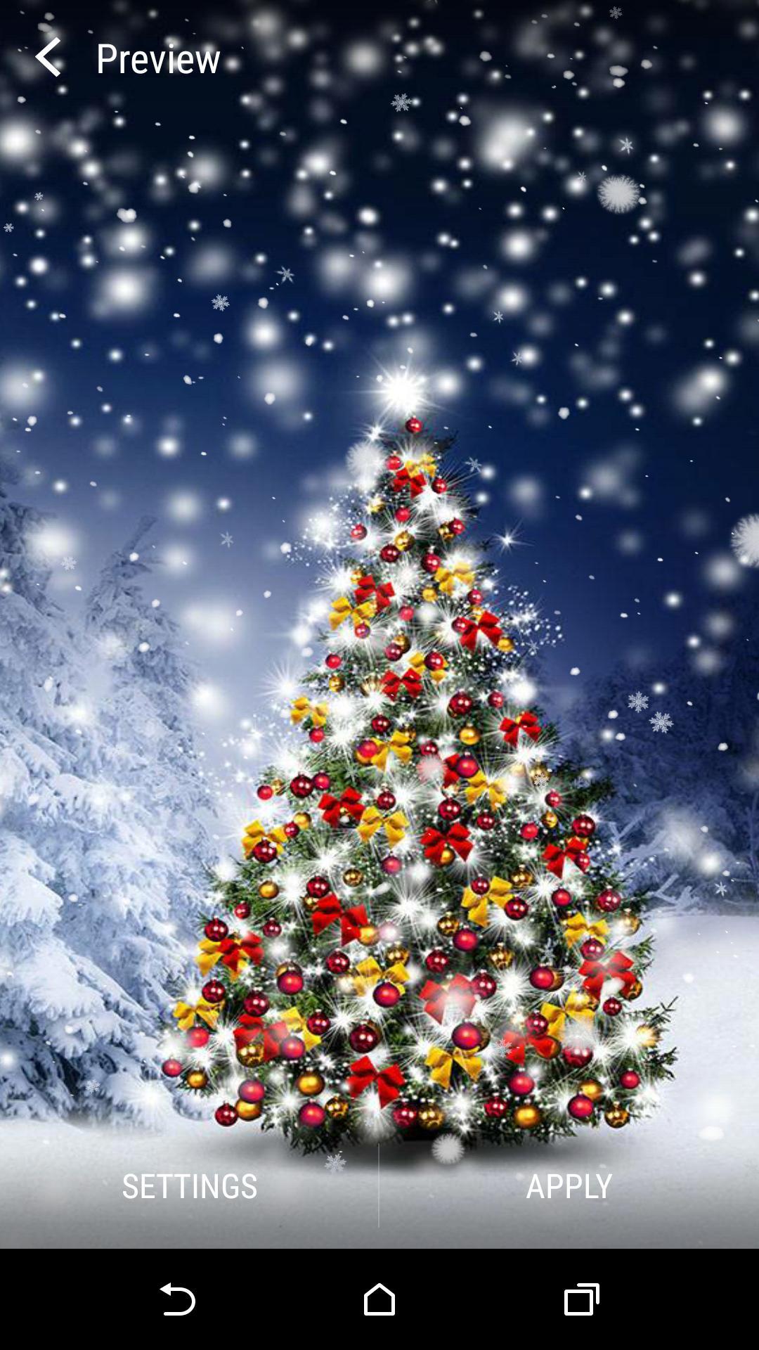 Android 用の クリスマスツリーライブ壁紙 Apk をダウンロード