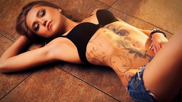 Tattoo Girl Wallpaper HD poster