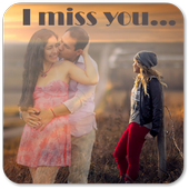 Missyou Photo Frame : Miss you photo editor icon