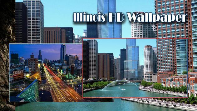 USA llinois HD Wallpaper poster