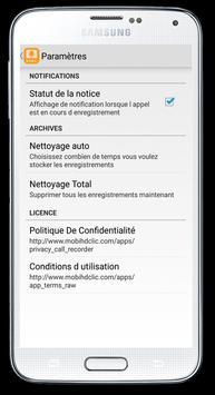Smart Enregistrement d'appel apk screenshot