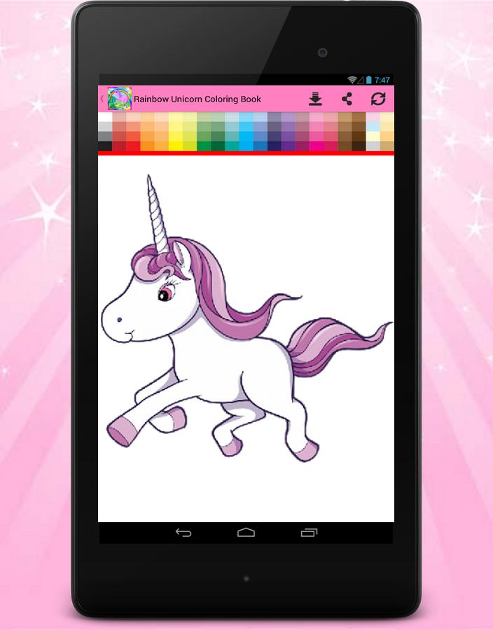Rainbow Unicorn Coloring Book For Android Apk Download