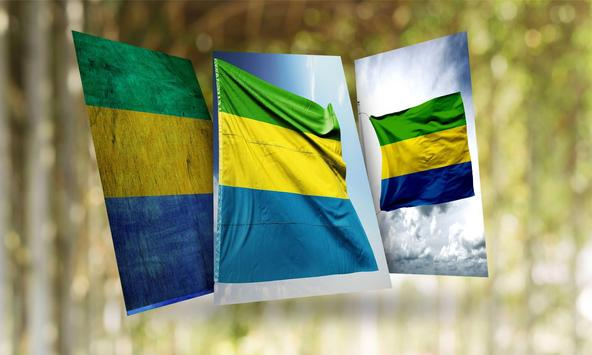 Gabon Flag Wallpaper poster