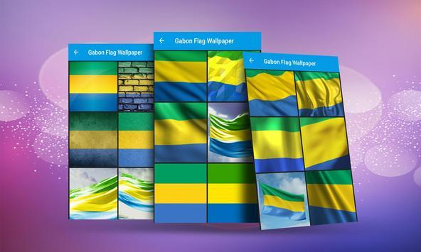 Gabon Flag Wallpaper screenshot 2