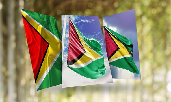 Guyana Flag Wallpaper poster