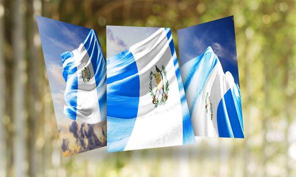 Guatemala Flag Wallpaper poster