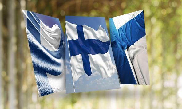 Finland Flag Wallpaper poster
