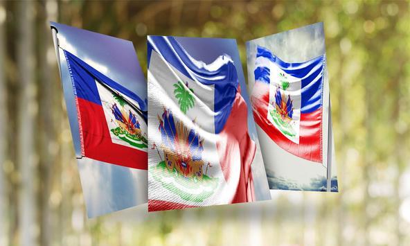 Haiti Flag Wallpaper poster