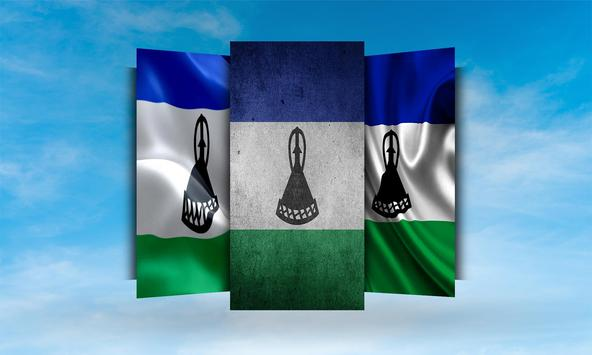 Lesotho Flag Wallpaper screenshot 1