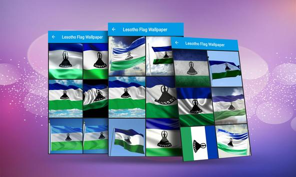Lesotho Flag Wallpaper screenshot 2