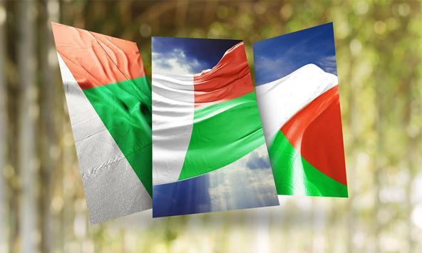 Madagascar Flag Wallpaper poster