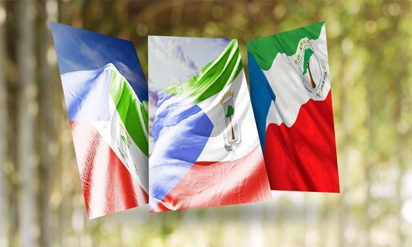 Equatorial Guinea Flag Wallpaper poster