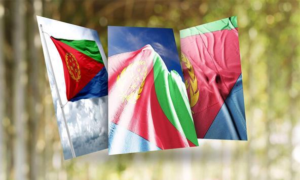 Eritrea Flag Wallpaper poster