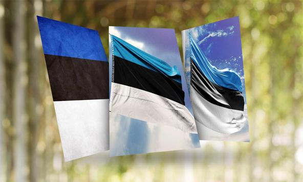Estonia Flag Wallpaper poster