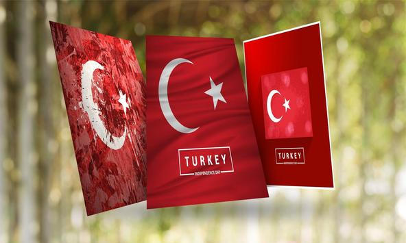 Turkey Flag Wallpaper Poster Screenshot 1