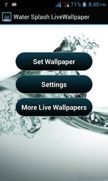 Water Splash Live Wallpaper apk screenshot