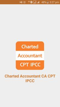 Charted Accountant CA CPT IPCC poster