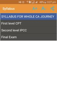 Charted Accountant CA CPT IPCC apk screenshot