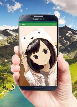 Anime Wallpaper Girl (Gold) screenshot 6
