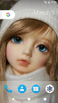 Cute Doll HD Theme apk screenshot