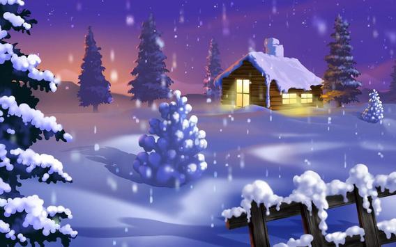 Christmas Snow Wallpaper poster