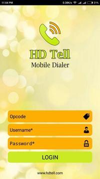 HDTell dialer poster