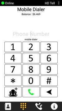 HDTell dialer screenshot 1