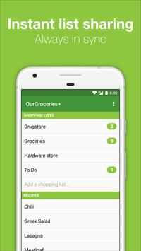Our Groceries Shopping List screenshot 1