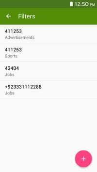 Live sms messages filter screenshot 9