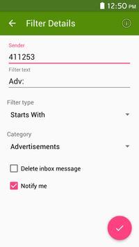 Live sms messages filter screenshot 16