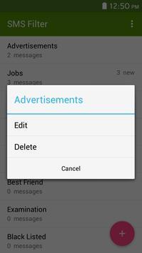 Live sms messages filter screenshot 2